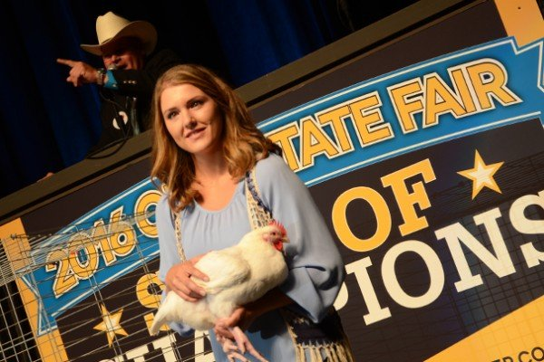 The Grand Champion Meat Chickens in 2016 were exhibited by Kady Davis of Carroll County and sold to Kroger and Gerber Poultry for $13,000.