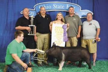 The Champion Dark Cross exhibited by Diana Weimer of Waterville sold to United Producers, Inc. for $ 3,700.