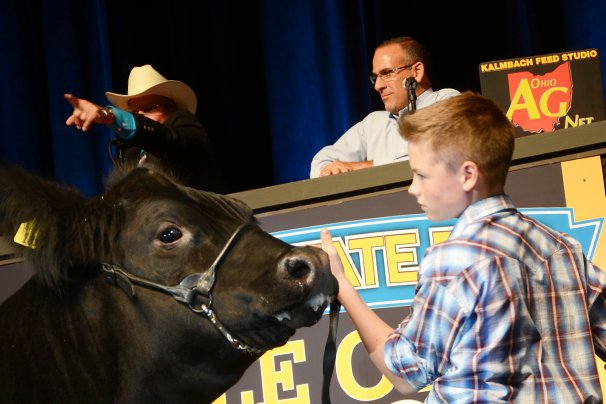 The Reserve Champion Market Beef was exhibited by Caden Jones of Allen County and sold to Kroger for $33,000.
