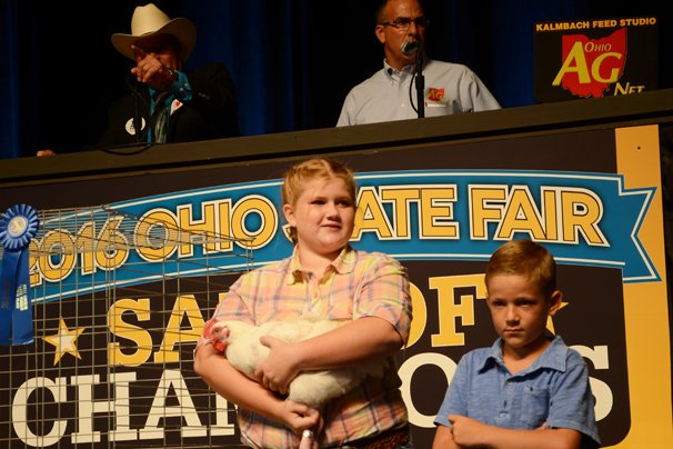 The Reserve Champion Meat Chickens were exhibited by Remmington Price of Hancock County and sold to Kroger and Gerber Poultry for $12,000.