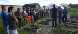 FFA members took a tour of the greenhouses and raised gardens at Sunshine.