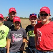 8th grade members of the Norwayne FFA Chapter enjoyed the field demonstrations Tuesday. From left to right, Jacob Aubrey, Joe Green, Jevan Riggenbach, Evan Marty, and Tim Gunkelman.