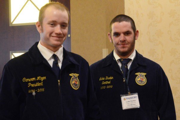 Proficiency finalists Cameron Mizer, Ridgewood and Luke Durbin, Indian Valley prepare for judging.