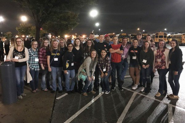 Kenton FFA members enjoyed the Cole Swindle and Chris Young concert. Photo by Kolt Buchenroth.