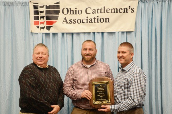"Pat Hord and Dave Neef of Hord Livestock in Crawford County were recognized with the Environmental Stewardship Award presented by ""In Ohio Country Today."""