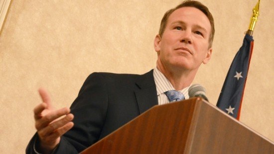 Secretary of State Jon Husted talked with Farm Bureau members yesterday during their annual Ag Day at the Capital.
