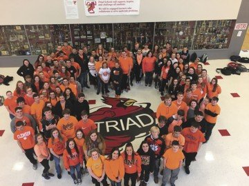 Schools around the area have taken assembly pictures wearing Tiger colors to show their support.