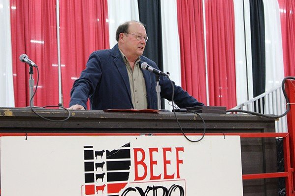 Director of Agriculture David Daniels welcomed guests to Beef Expo
