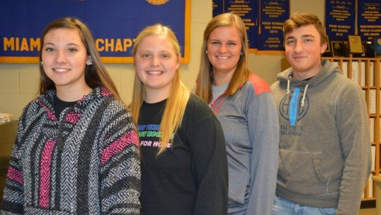 Recipients of the 2017 State FFA Degree are (L to R) Carly Gump, Katie Bodenmiller, Alyssa Westgerdes, and Alex DiNardo.