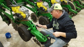 Brent Pence gets his John Deere planter ready for another season