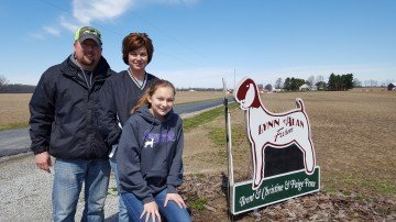 Brent, Christine and Paige Pence from Lynn Alan Farm in New Carlisle, Ohio