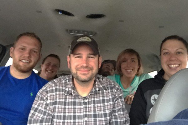 Duane Shawk, Matt Reese, Amanda Kramer (front) Candance Lease, Derek Looker and Sara Tallmadge (Back)and Melinda Witten (not pictured)  — the BAV crew is almost home!