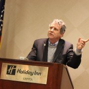 Sen. Sherrod Brown speaking to Farm Bureau