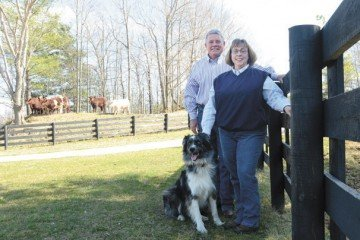 Tom and Susie Turner get plenty of help from their dog and stock manager W.F. Trooper.