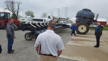 Shane Kellogg describes new equipment being used to better his farms nutrient management practices