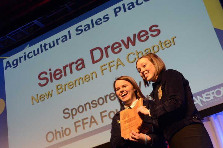 Agricultural Sales Placement Sierra Drewes New Bremen FFA