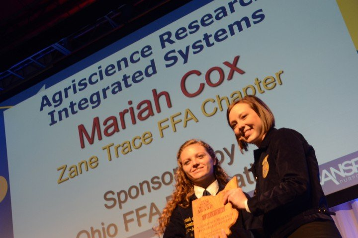Agriscience Research Integrated Systems Mariah Cox Zane Trace FFA