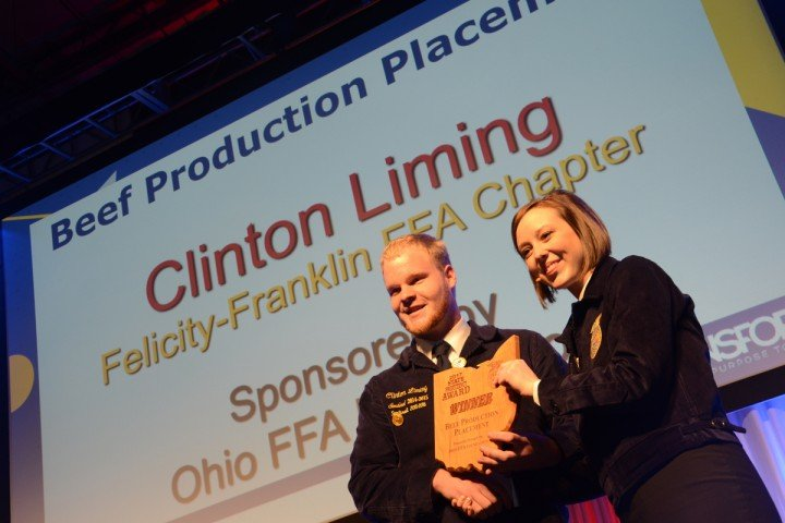 Beef Production Placement Clinton Liming Felicity-Franklin FFA