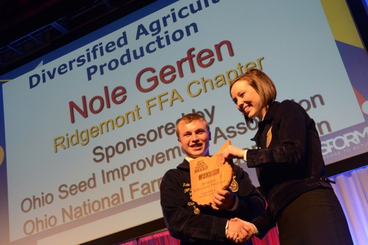 Diversified Agricultural Production Nole Gerfen Ridgemont FFA