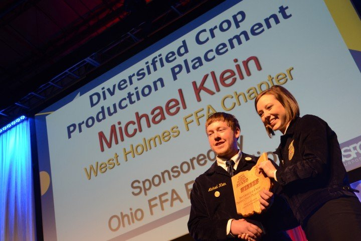 Diversified Crop Production Placement Michael Klein West Holmes FFA
