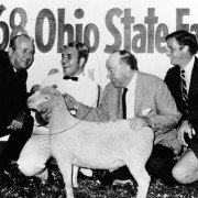 Bill Chapin had the 1968 grand champion market lamb in the first Sale of Champions. It sold to the Grandview Inn for $1,225. Photo courtesy of the Ohio State Fair.