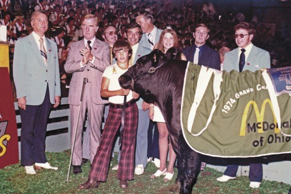Randy Shane had the 1974 grand champion steer. It sold to McDonald's for $12,210. Photo courtesy of the Ohio State Fair.