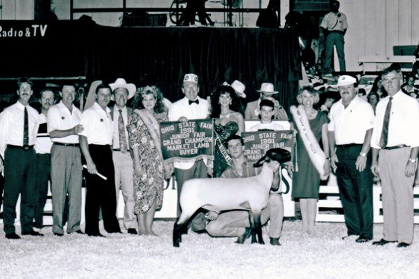 The grand champion market lamb was shown by Luther Hill in 1992 and purchased by Kroger for $12,000.