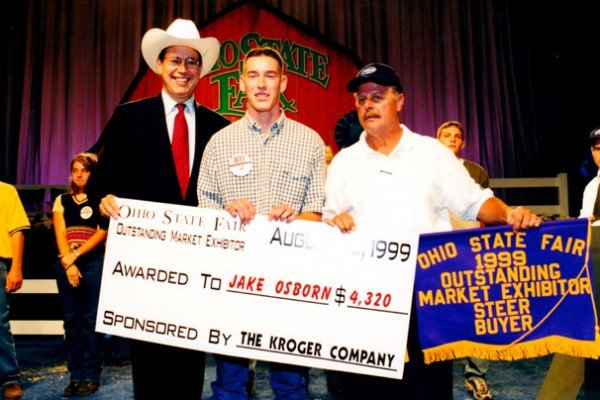 Jake Osborn from Highland County was the Outstanding Market Steer Exhibitor in 1999.