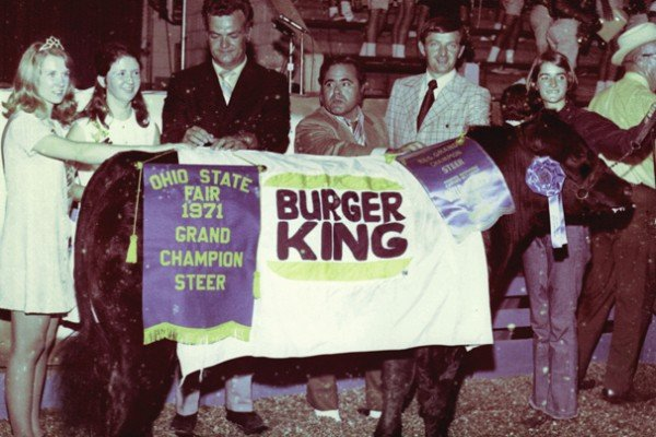 The 1971 reserve grand champion steer was exhibited by Joy Eversole from Fairfield County. Burger King bought the steer for $3,060.