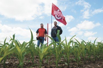 Nate Douridas, the farm manager at the Farm Science Review, and graduate student Trey Colley are working together to try and collect enough data from a single corn plant in 2017 to set a world record.