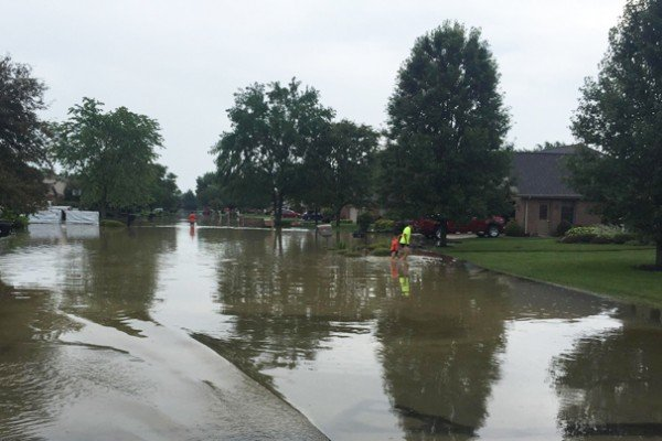 On July 6 the town of Arcanum in Darke County got five inches of rain and the town was shut down. Photo by Eric Brown.