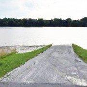 This Blanchard Valley River bottom road may flood... Photo by Shane Kellogg.