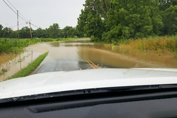 Perry County roads were flooded. Photo by Matt Stackhouse.