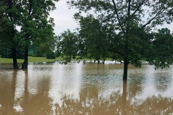 Hancock County flooding. Photo by Jeff Reese