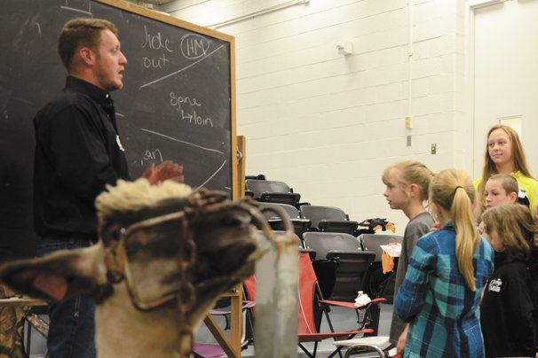 Hank LeVan, Ohio State University Livestock Judging Team coach, led a session at the No Show Lamb Show this spring.