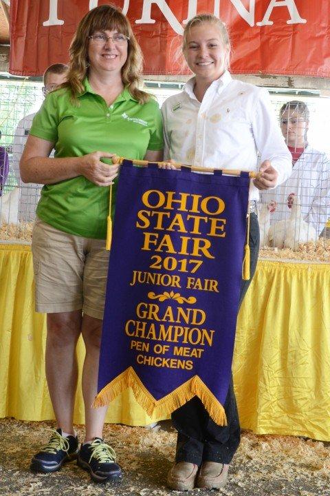 LeAnn Regula, Logan Co., had the Grand Champion Meat Chickens