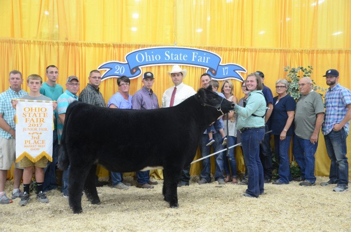 Third overall: Division 3 Res. Crossbred, Elizabeth Heintz, Auglaize Co.