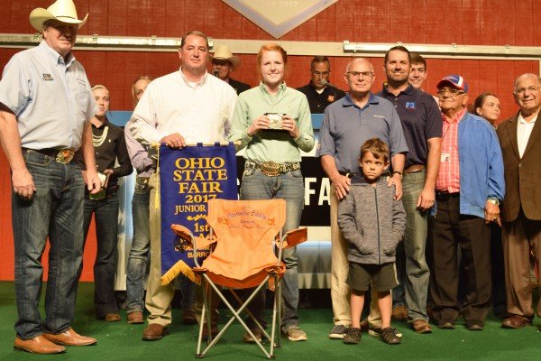 Madelyn Harrison, 15, Butler Co., was the first place Outstanding Market Barrow Exhibitor. Kelsey Vollrath, Clark Co., 12, was second and Jenna Siegel, Marion Co., 16, was third. The other Barrow Outstanding Market Exhibitors were: Blake Vollrath, Clark Co., 9; Seth Fearon, Darke Co., 10; Devon Snyder, Clinton Co., 11; Gracee Beth Stewart, Clinton Co., 13; Mallory Liles, Auglaize Co., 14; Micah Smock, Shelby Co., 17; and Lea Kimley, Clark Co., 18.