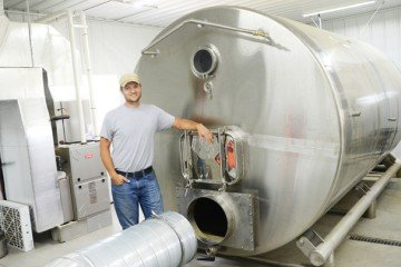 This malting facility features custom made equipment.