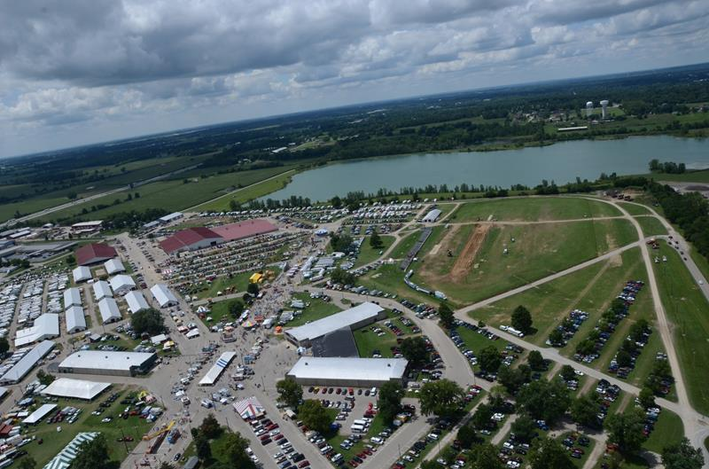 The Clark County Fairgrounds can handle large events and features a very unique 115-acre lake that is a former gravel pit. Photo provided by springfieldf1grandprix.com.