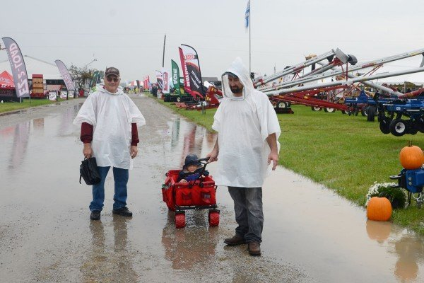 It was a soggy but cool day on day one of the Review.