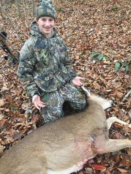Trevor Ball, son of Trent Ball, continued the family deer hunting tradition.