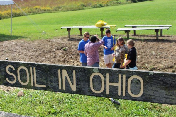 Members from the MVCTC FFA Chapter check out the soil pit.