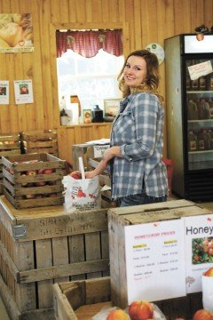 Megan Burrer works in the sales area that features a wide variety of products.
