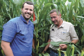 Trey Colley and Tim Berning check in on Terra in late August.