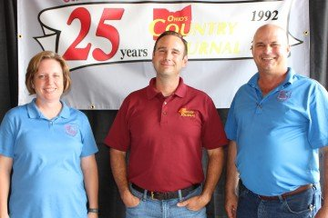 For the last 18 years (since June of 1999) Kim Lemmon and Matt Reese have worked with owner and publisher Bart Johnson at the OCJ. This picture was taken at the recent Farm Science Review.