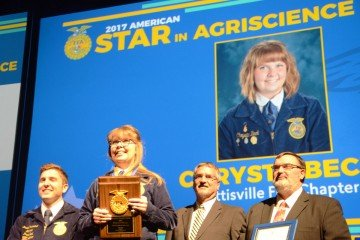 American Star in Agriscience winner – Chrysta Beck, Pettisville