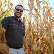 Trey Colley helped set a world record for the amount of data collected from one corn plant.