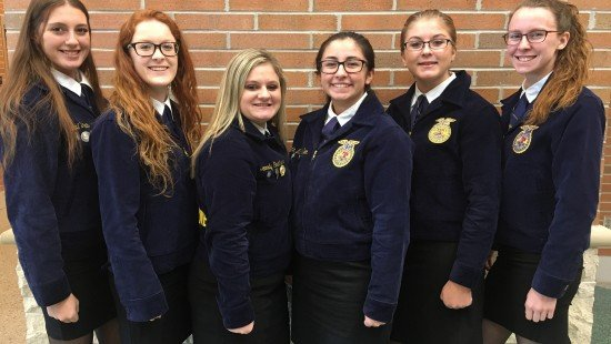 The Anthony Wayne FFA officer team competed in the District 1 FFA Advanced Parliamentary Procedure Career Development Event