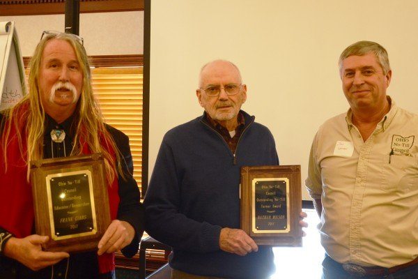 The annual No-Till Awards were presented to: soil scientist Frank Gibbs, Fisher's Ag Service (not pictured), Pickaway County no-till farmer Nathan Wilson.